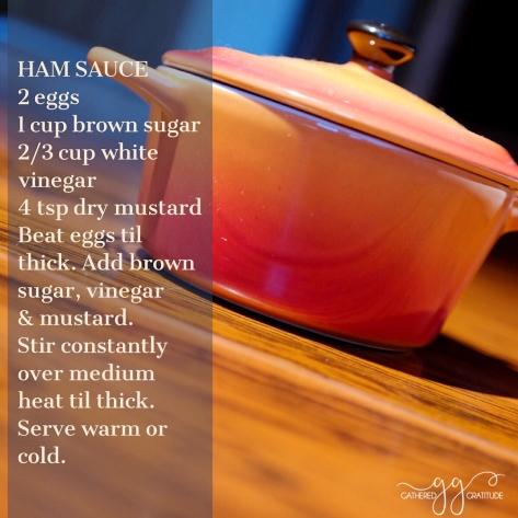 Ham Sauce Bev Rogan